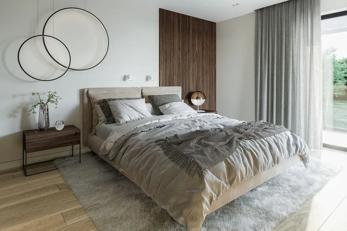 Leśne Tarasy sypialnia